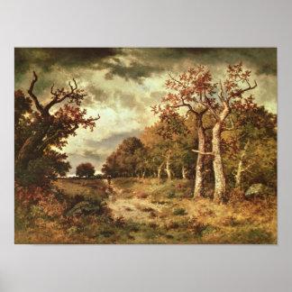 The Edge del bosque, 1871 Póster