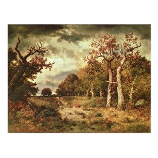 The Edge del bosque, 1871 Postal