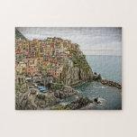 The Edge of Italy - Manarola - Cinque Terre Jigsaw Puzzles