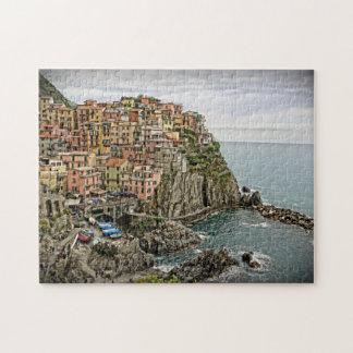 The Edge of Italy - Manarola - Cinque Terre Puzzle