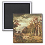 The Edge of the Forest, 1871 2 Inch Square Magnet