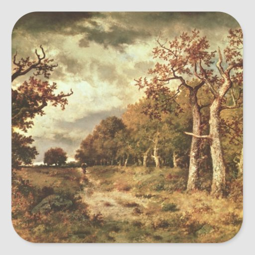 The Edge of the Forest, 1871 Square Sticker