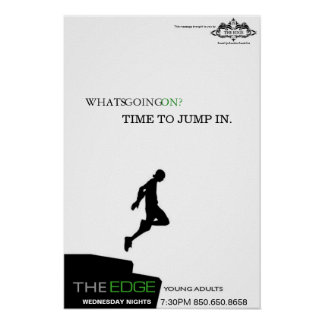 """The Edge Poster """"Jump"""""""