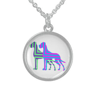 The Edged Great Dane Sterling Silver Necklace