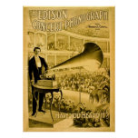 The Edison Concert Phonograph Vintage Advert Poster