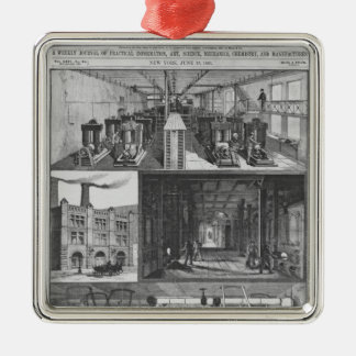 The Edison Electric Illuminating Co's Station Metal Ornament