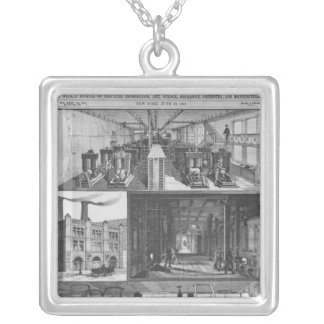 The Edison Electric Illuminating Co's Station Silver Plated Necklace