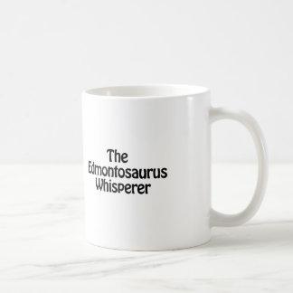 the edmontosaurus whisperer classic white coffee mug