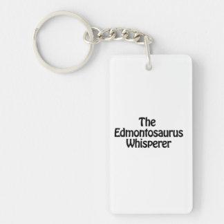the edmontosaurus whisperer Double-Sided rectangular acrylic keychain
