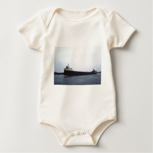 The Edmund Fitzgerald on the St  Clair River Baby Bodysuit