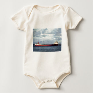 The Edmund Fitzgerald on the St. Clair River Baby Bodysuit