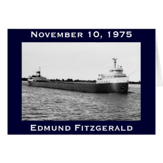 The Edmund Fitzgerald on the St. Clair River Card