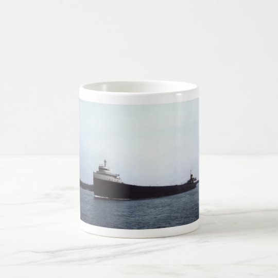 The Edmund Fitzgerald on the St. Clair River Coffee Mug