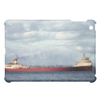 The Edmund Fitzgerald on the St. Clair River Cover For The iPad Mini