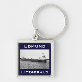 The Edmund Fitzgerald on the St. Clair River Keychain