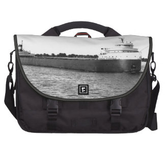 The Edmund Fitzgerald on the St. Clair River Computer Bag