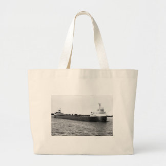 The Edmund Fitzgerald on the St. Clair River Large Tote Bag