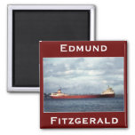 The Edmund Fitzgerald on the St. Clair River Fridge Magnets