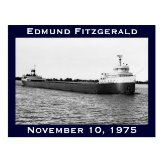 The Edmund Fitzgerald on the St. Clair River Post Card