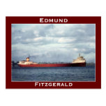 The Edmund Fitzgerald on the St. Clair River Postcard