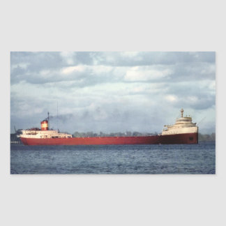 The Edmund Fitzgerald on the St. Clair River Rectangular Sticker