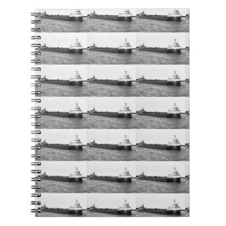 The Edmund Fitzgerald on the St. Clair River Spiral Notebooks