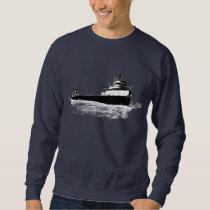 The Edmund Fitzgerald on the St. Clair River Sweatshirt