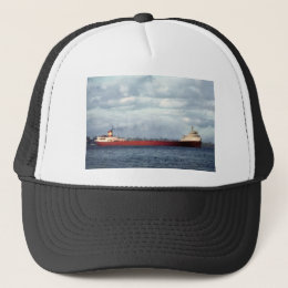 The Edmund Fitzgerald on the St. Clair River Trucker Hat