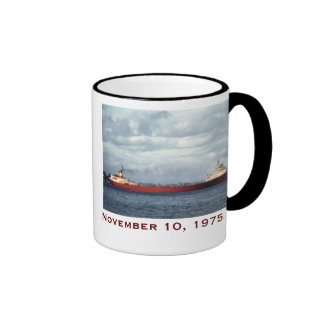 The Edmund Fitzgerald with Crew Names Coffee Mug