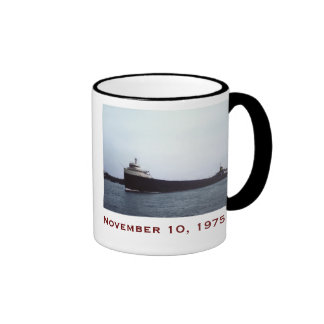 The Edmund Fitzgerald with Crew Names Ringer Coffee Mug
