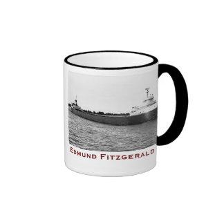 The Edmund Fitzgerald with Crew Names Ringer Mug