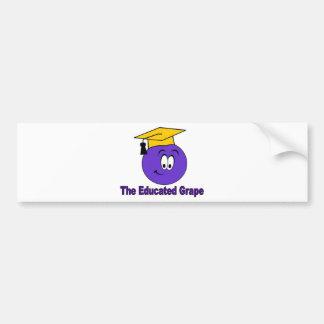 The Educated Grape Car Bumper Sticker