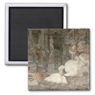 The Education of Achilles 2 Inch Square Magnet