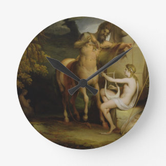 The Education of Achilles, c.1772 (oil on canvas) Round Clock
