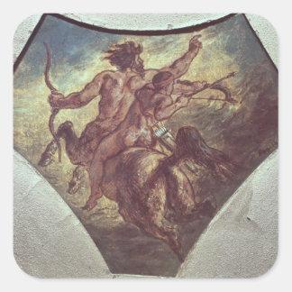 The Education of Achilles Square Sticker