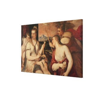 The Education of Cupid, c.1565 Canvas Print