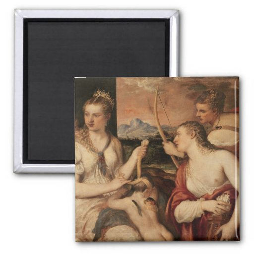 The Education of Cupid, c.1565 Fridge Magnets