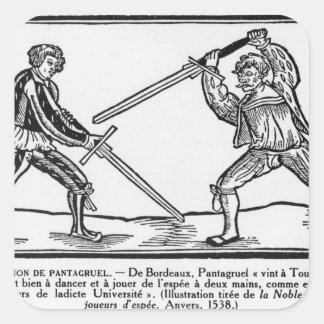 The Education of Pantagruel, illustration Square Sticker