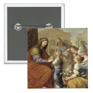 The Education of the Virgin, 1658 Button
