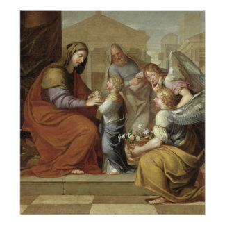 The Education of the Virgin, 1658 Poster