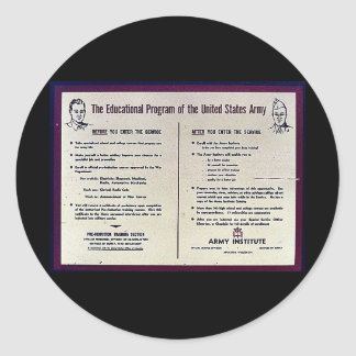 The Education Program Of The United States Army Classic Round Sticker