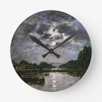 The Effect of the Moon, 1891 (oil on canvas) Round Clock