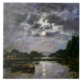 The Effect of the Moon, 1891 (oil on canvas) Tile