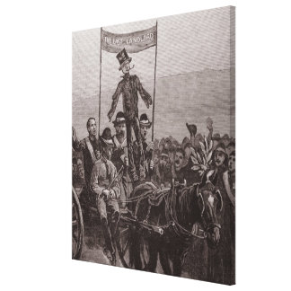 The Effigy of the Last Landlord Canvas Print