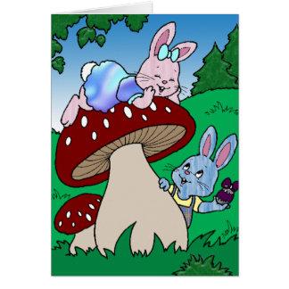 The Egg Huny Bunny Cartoon Card