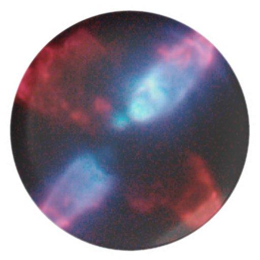 The Egg Nebula (CRL 2688) in Infrared Light Dinner Plate
