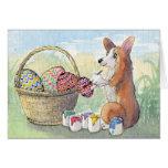 The Egg Painter Corgi CARD