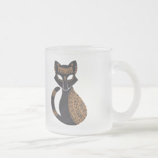 The Egyptian Cat Frosted Glass Coffee Mug