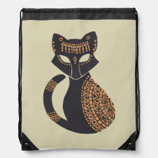 The Egyptian Cat Drawstring Bags