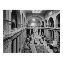 The Egyptian Museum. Interior of Main Hall c.1934 Postcard